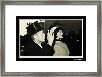 John F Kennedy And Jacqueline After His Taking Oath Framed Print by Audreen Gieger