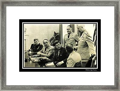 John F Kennedy Commander In Chief Framed Print by Audreen Gieger-Hawkins