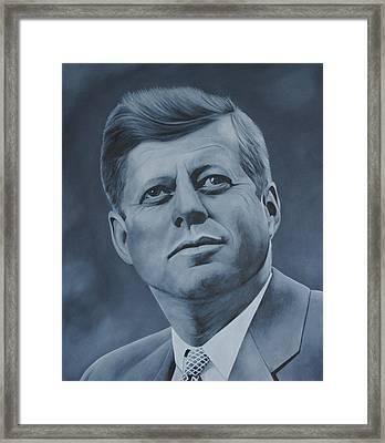 John F Kennedy Framed Print by David Dunne