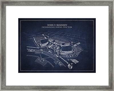 John F Kennedy International Airport Framed Print by Aged Pixel