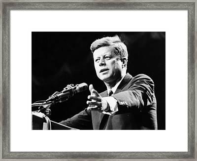John F Kennedy Framed Print