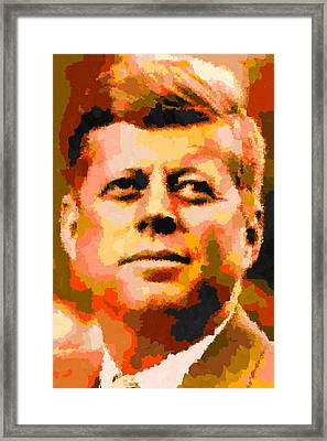 John Fitzgerald Kennedy - Abstract Framed Print