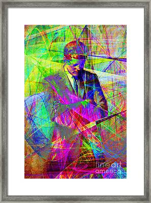 John Fitzgerald Kennedy Jfk In Abstract 20130610 Framed Print
