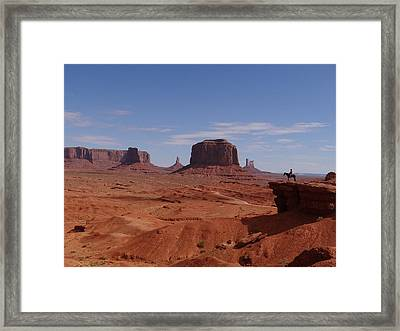 John Ford's Point In Monument Valley Framed Print by Keith Stokes