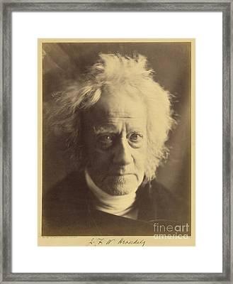 John Frederick William Herschel 1867 Framed Print by Getty Research Institute