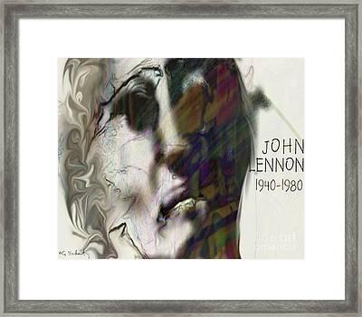 Framed Print featuring the digital art John by Gabrielle Schertz