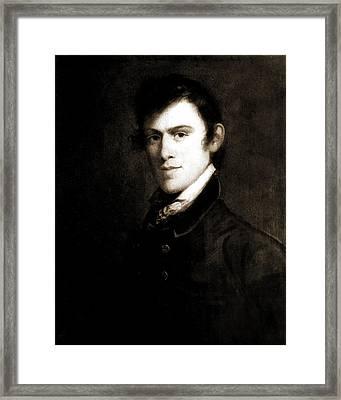 John Grimes, Head-and-shoulders Portrait, 1812 Framed Print