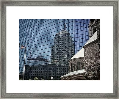 John Hancock - A Century Of Self-reflection - Boston Architecture Framed Print by Julia Springer