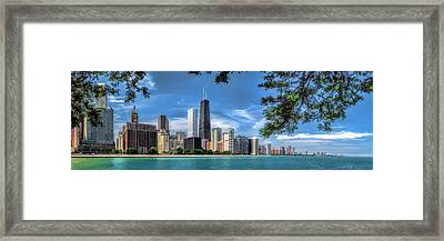 John Hancock Chicago Skyline Panorama Framed Print
