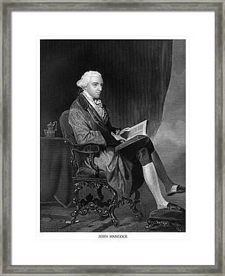 John Hancock Framed Print by Historic Image