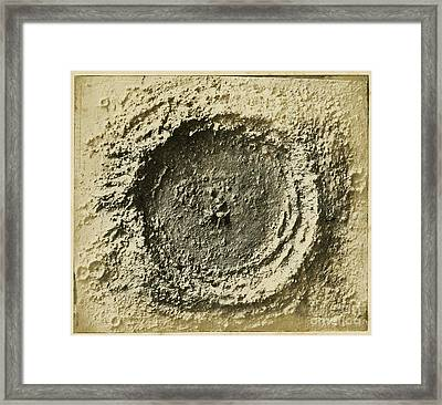John Herschels Moon Crater C.1850s Framed Print by Getty Research Institute