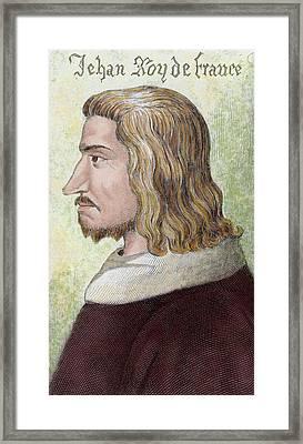 John II The Good (gue Of Maulny Castle Framed Print by Prisma Archivo