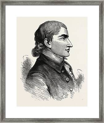 John Jay From A Print Published In 1783, He Was An American Framed Print by American School