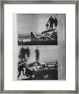 John Kennedy Dallas Assasintation Framed Print by Retro Images Archive