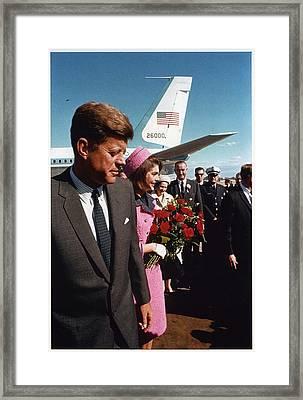 John F. Kennedy In Dallas Framed Print