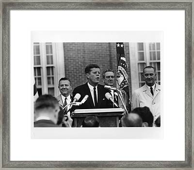 John Kennedy In Fort Worth 11-22-63 Framed Print by Retro Images Archive