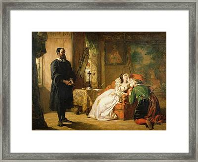 John Knox Reproving Mary, Queen Framed Print by William Powell Frith