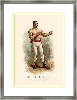 John L. Sullivan Boxer Framed Print by Gary Grayson