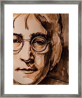 John  Framed Print by Laur Iduc