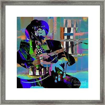John Lee Hooker Collection Framed Print by Marvin Blaine