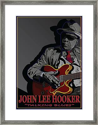 John Lee Hooker Framed Print by Larry Butterworth