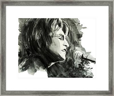 John Lennon 2 Framed Print by Bekim Art