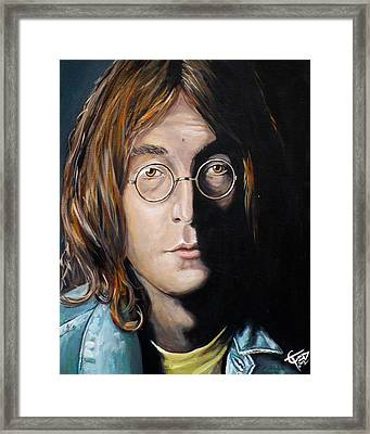 John Lennon 2 Framed Print by Tom Carlton