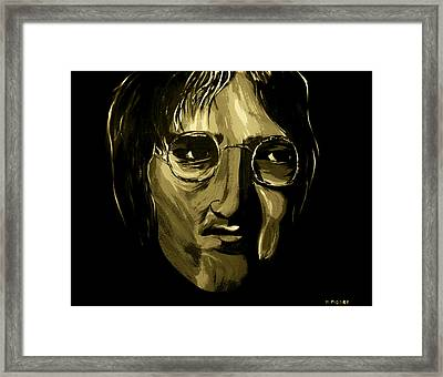 John Lennon 4 Framed Print by Mark Moore