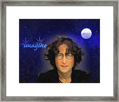 John Lennon Framed Print by Anthony Caruso
