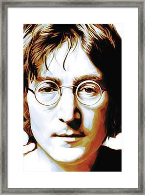 John Lennon Artwork Framed Print