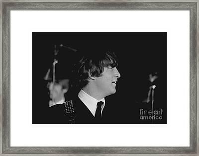 John Lennon, Beatles Concert, 1964 Framed Print by Larry Mulvehill