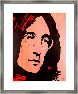 John Lennon Beatles Pop Art Framed Print by Bob Baker