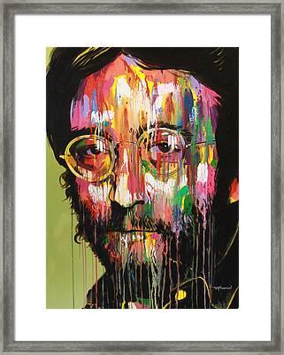 John Lennon Framed Print by Bruce McLachlan
