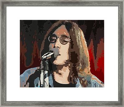 John Lennon Framed Print by Dennis Nadeau