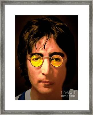 John Lennon Imagine 20150305 Framed Print by Wingsdomain Art and Photography