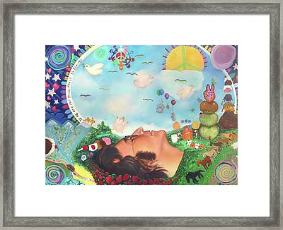 John Lennon - Imagine Nation Framed Print by Emiliano Campobello