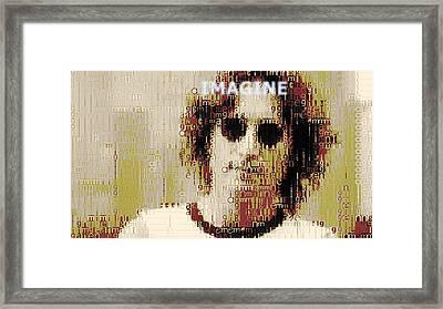 John Lennon Imagine Typography Framed Print by Dan Sproul
