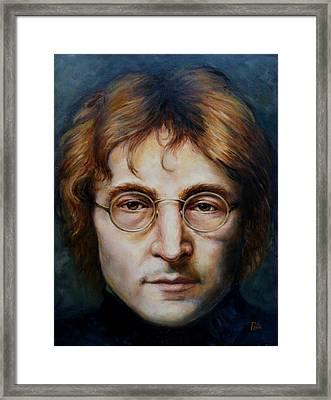 John Lennon Framed Print by June Ponte
