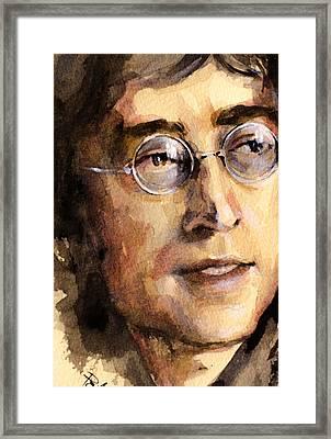 John Lennon Framed Print by Laur Iduc