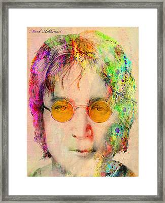 John Lennon Framed Print by Mark Ashkenazi