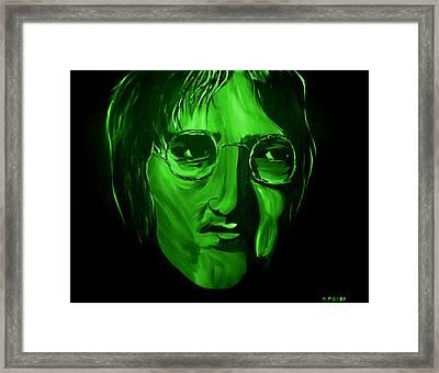 John Lennon Framed Print by Mark Moore