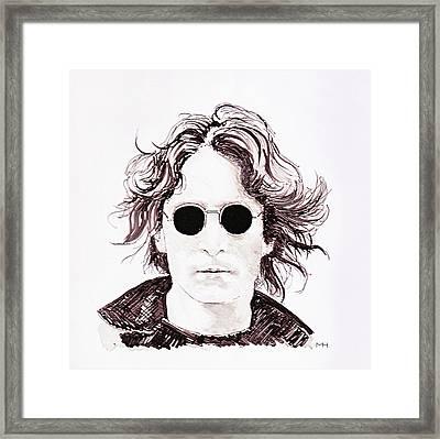 John Lennon Framed Print by Martin Howard