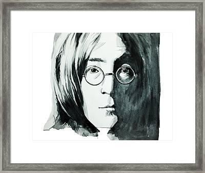 John Lennon Framed Print by Bekim Art
