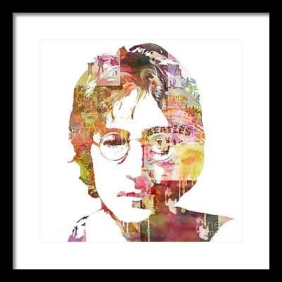 Rock John Lennon Framed Prints