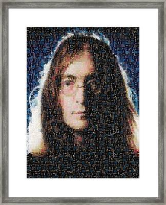 John Lennon Mosaic Image 1 Framed Print by Steve Kearns