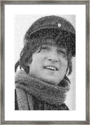 John Lennon Mosaic Image 13 Framed Print by Steve Kearns