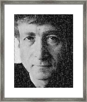 John Lennon Mosaic Image 15 Framed Print