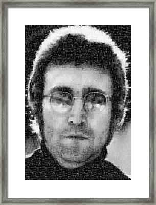 John Lennon Mosaic Image 16 Framed Print by Steve Kearns