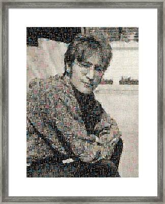 John Lennon Mosaic Image 2 Framed Print by Steve Kearns