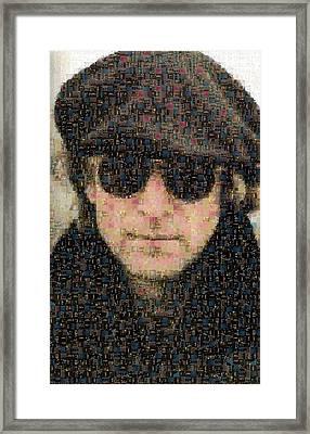 John Lennon Mosaic Image 8 Framed Print by Steve Kearns